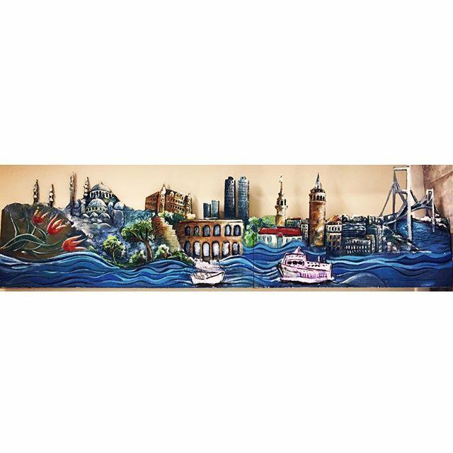 """İSTANBUL 🇹🇷 . """" 2.50*60 cm """" . . . #istanbul #strafor #strafordekor #straforkesim #art #artofinstagram #artgallery #arts #artofdrawingg #artstudio #artlovers #artoftheday #atölye #çizim #dekoratif #dekorasyonfikirleri #çizim #istanbul #istanbulart #meril #merilinatölyesi"""