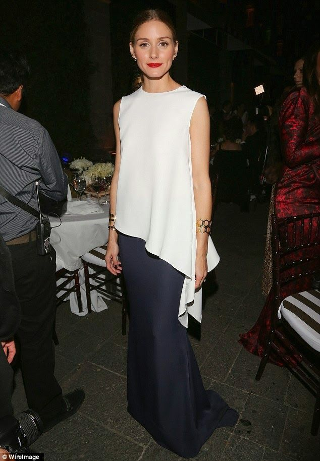 Olivia Palermo at Carolina Herrera fashion show and gala in Mexico City.
