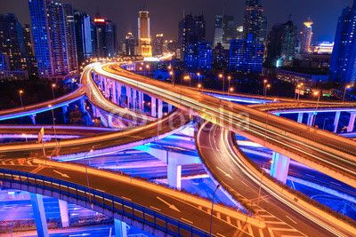colorful overpass at night ©chungking