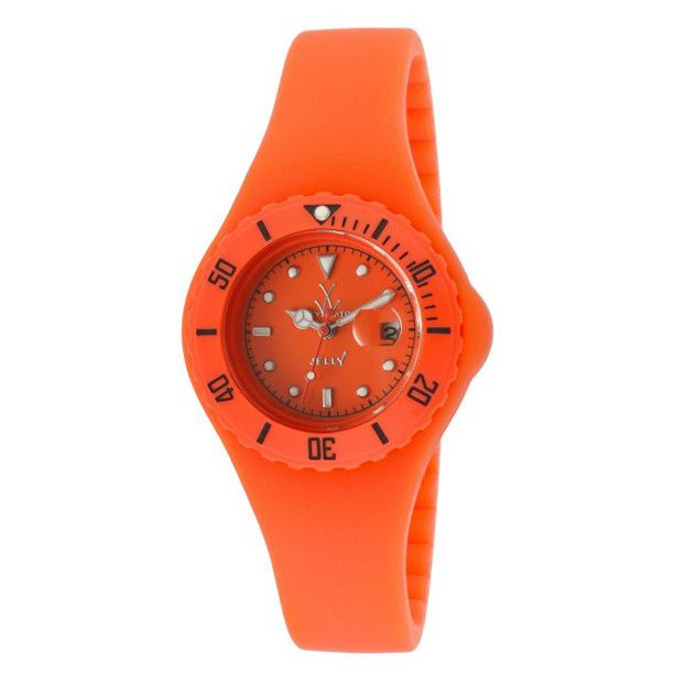 ToyWatch Small Jelly Orange Silicone Women's Watch JY23OR