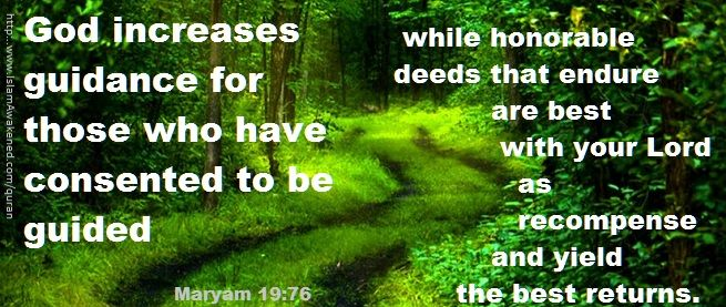 Maryam 19:76 as rendered by T.B.Irving