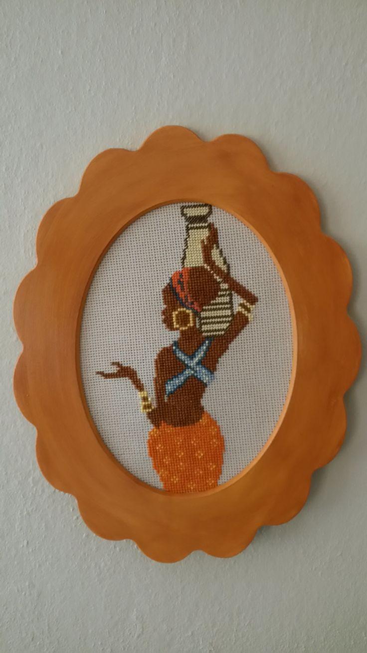 Cross stitch - etniç woman