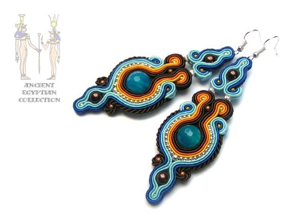 Blue Lotos earrings - Sutasz-Anka http://www.soutage.com/2013/04/blue-lotos-kolczyki.html