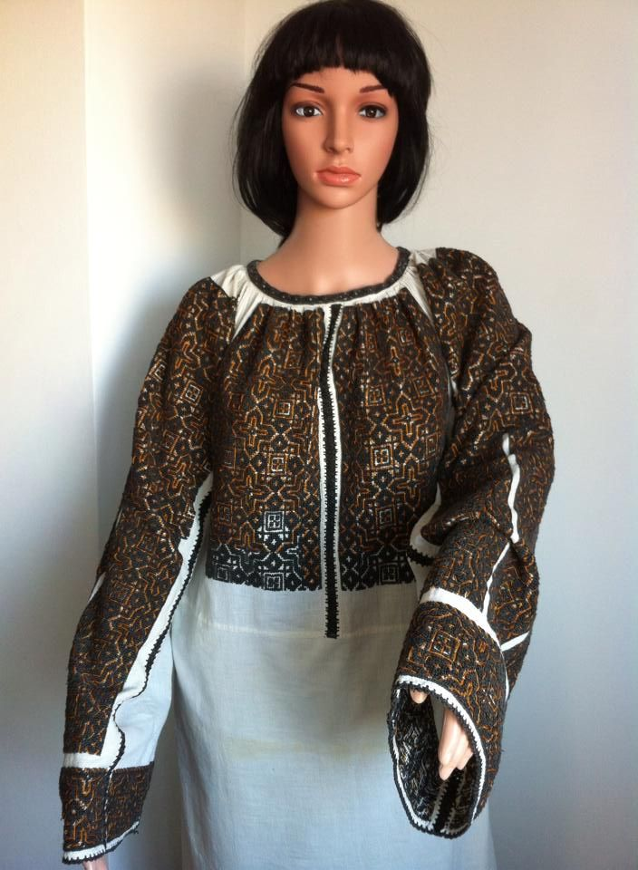 Vintage traditional Romanian blouse (IIE)