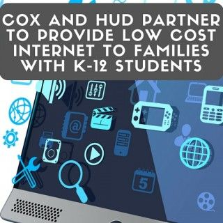 Connect2Compete Program provides low cost internet to families with children in grades k-12.