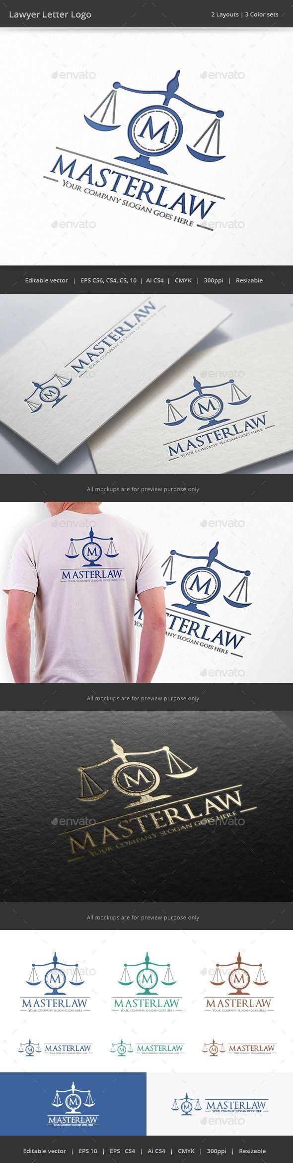 Lawyer Letter Logo EPS Template u2022