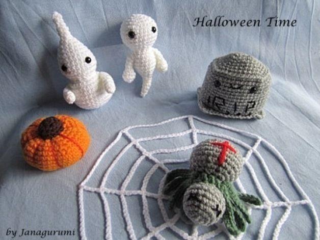 "Crochet Tutorials – Amigurumi ""Halloween-Set"" PDF-Instruc... – a unique product by Janagurumi on DaWanda"
