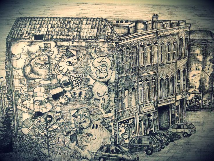 City Sketch- Rotterdam, Netherlands