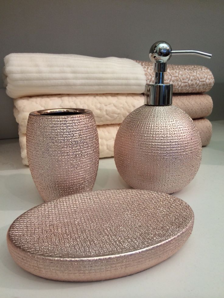 Rose gold bathroom accessories at homegoods and marshall 39 s for Gold bathroom accessories