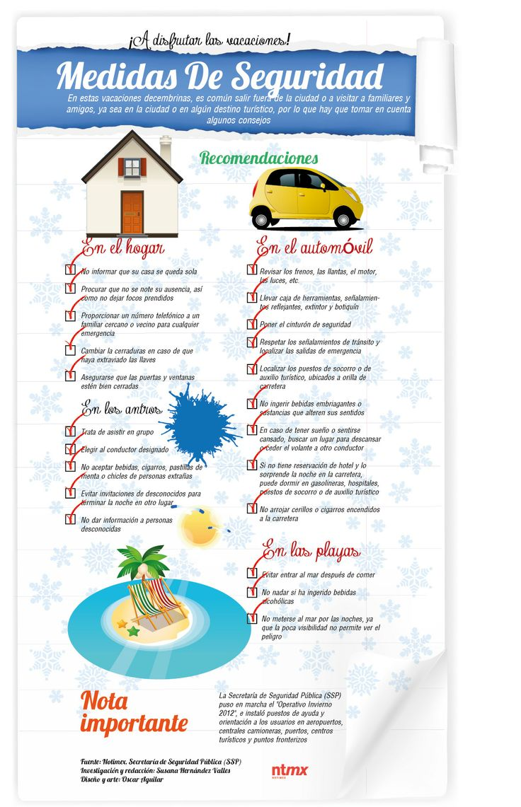 Infografía: Tu seguridad en vacaciones - QUO mx