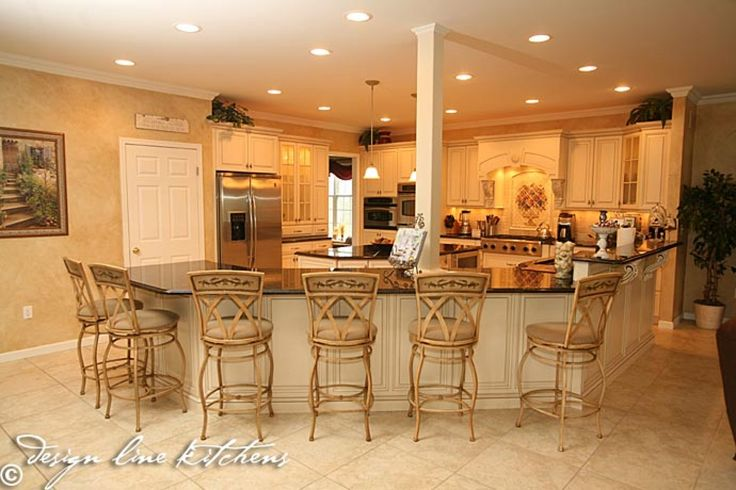 Kitchen iland kitchen islands tuscan french country for Country kitchen island designs