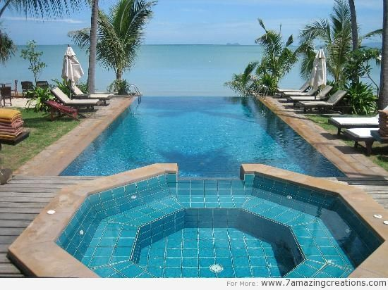 Creative Home Decoration Awesome Beautiful Ocean View Infinity By Suprin  With Beautiful Outdoor Swimming Pool Design Inspiration Architects