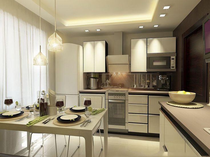 Красивый дизайн кухни 9 кв метров