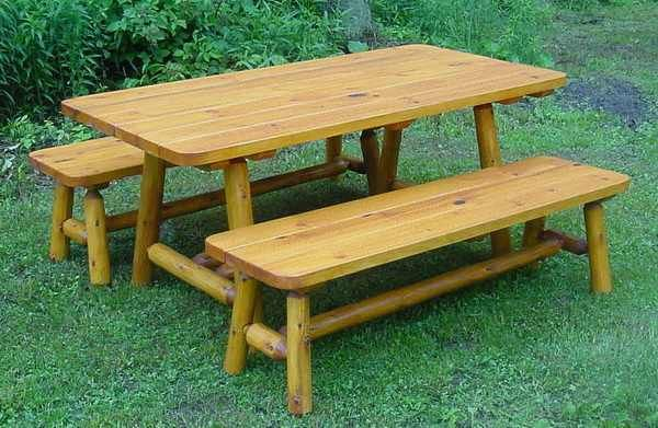 17 best images about woodworking on pinterest rustic for Rustic picnic table plans