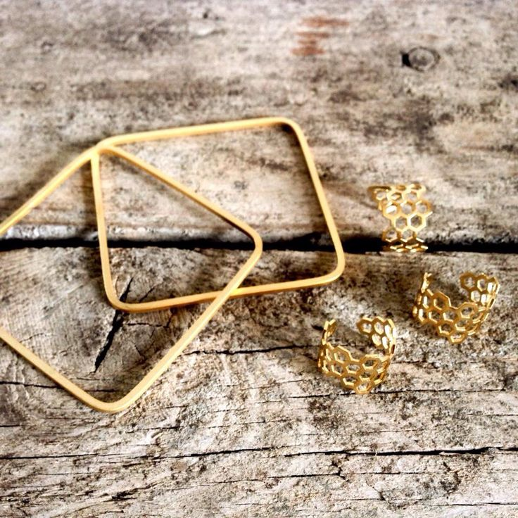 Square bracelet • honey comb ring by FRIIHOF+SIIG