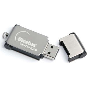The Plate FlashDrive has a brushed steel effect cover over a black inner body which is ideal for engraving your logo. A practical product which will be used time and time again.