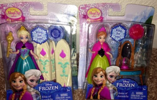 Disney Frozen Elsa And Anna Magic Clip Magiclip Mini Dolls