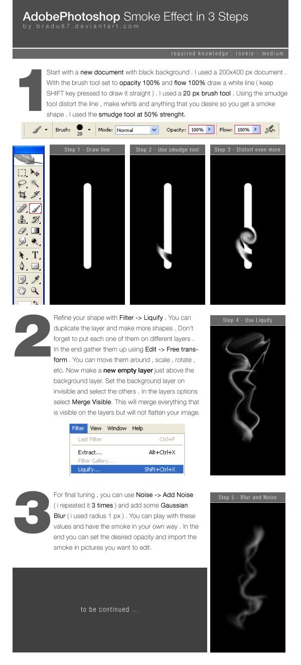Adobe Photoshop Smoke Tutorial by ~bradu87 on deviantART