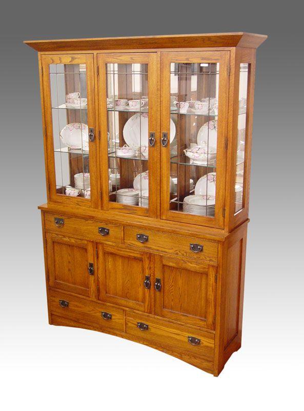 craftsman style furniture. mission style china cabinet craftsman furniture