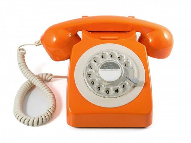 GPO 746 Draaischijf Oranje - Telefonie - 123platenspeler.nl