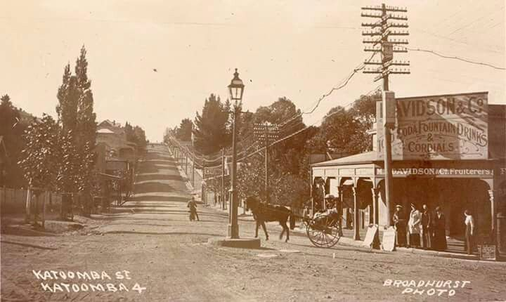 Katoomba St,Katoomba in the Blue Mountains region of New South Wales in 1901.