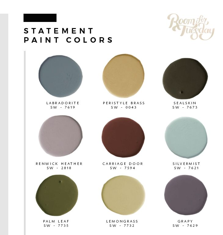 Predicted Paint Colors for 2018 - roomfortuesday.com /