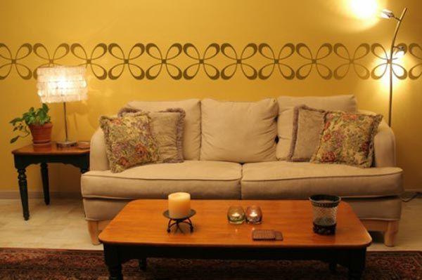 Paredes decoradas para salas en cafe buscar con google for Paredes decoradas