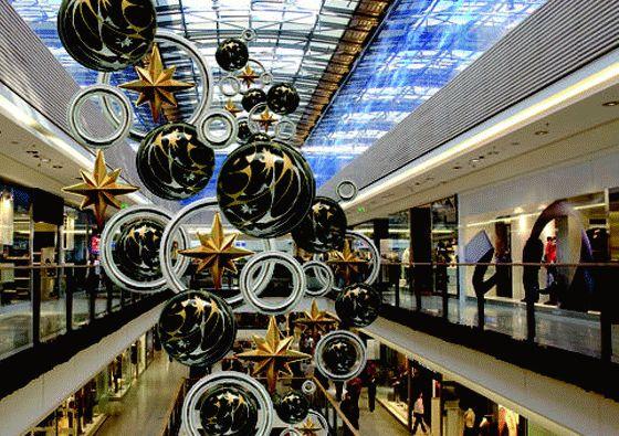 vac form shopping centre christmas decorations