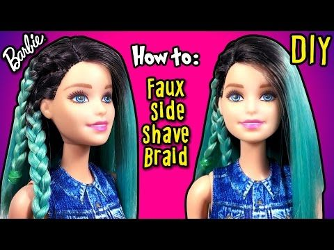 DIY - How to Make Fake Half Shaved Hair Barbie Doll - Barbie Hairstyles Tutorial - Making Kids Toys - YouTube