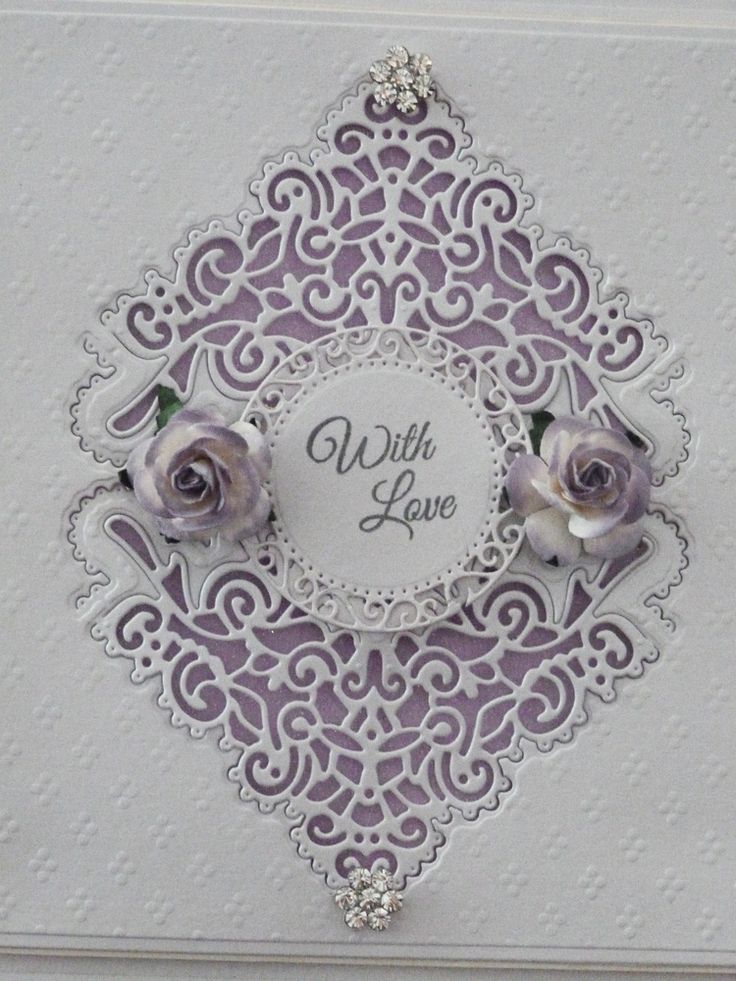 'Chantilly Flourish' - Corner Die. Visit tatteredlace.co.uk for available stockists.