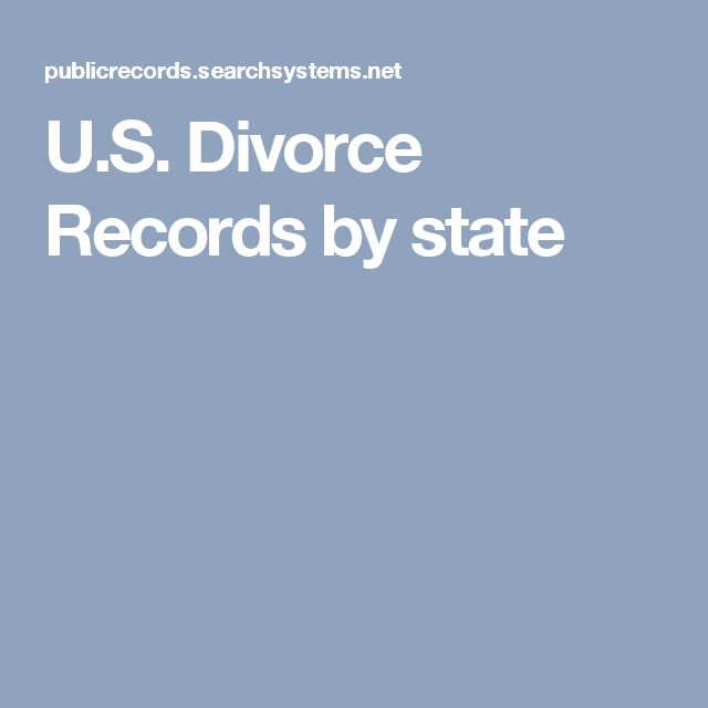 U.S. Divorce Records by state