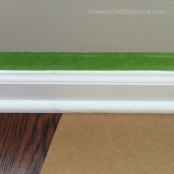 Fast and EASY Way to Paint Baseboards (on hard surfaces)