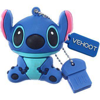 Memoria USB 2.0 8gb 16gb 32gb 64gb stitch Pen Drive-azul