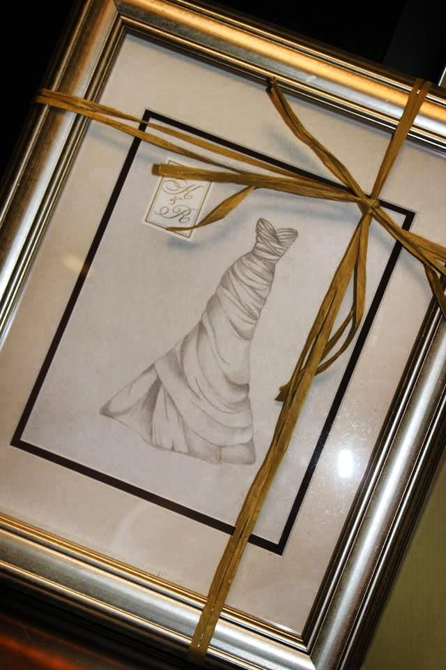 Creative way to preserve your wedding dress! www.thebrushingbride.com
