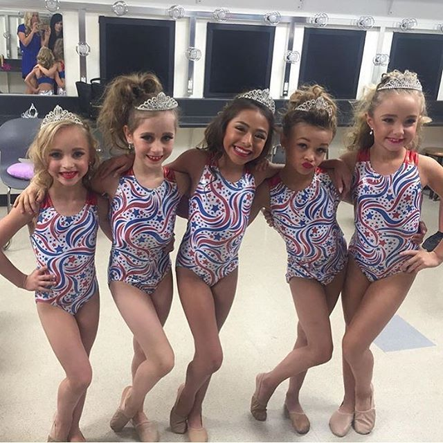 "Photo of the Mini's in their group costume at today's competition! I think their routine was called ""Cali Cuties"" but I'm not sure. Dance moms season 6 episode 24"