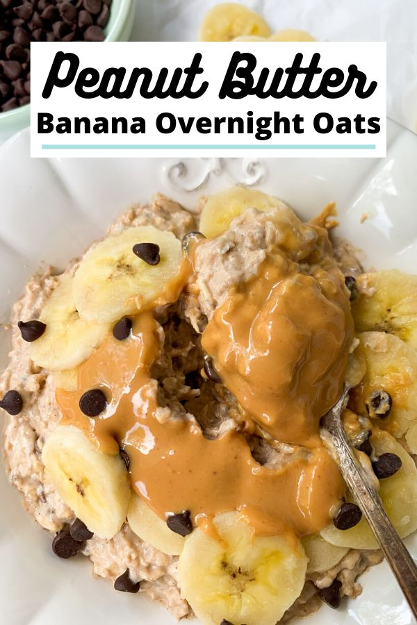 These Peanut Butter Banana Overnight Oats are the best make ahead breakfast recipe! They are filling & satisfying, perf…