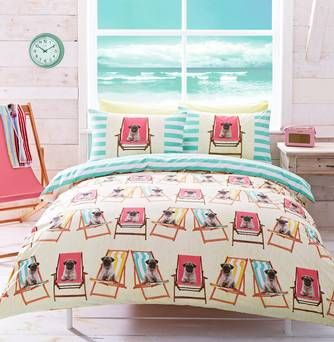 Make a statement with printed bed sheets or duvets you can doodle on
