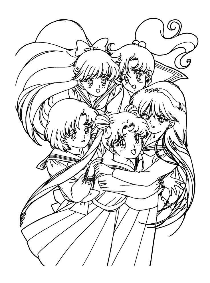130 best Sailor Moon coloring book