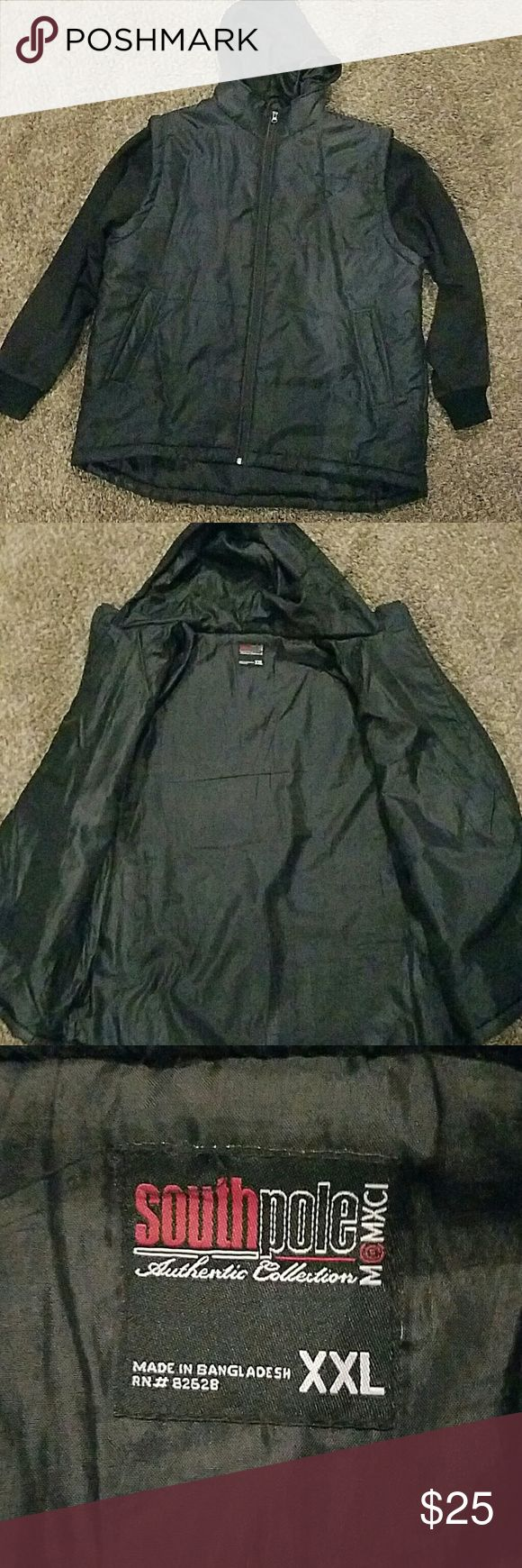 South Pole Jacket *Size XXL *Used a handful of times *Outer parts of the sleeves and hood are cloth, the whole inside of the jacket is nylon to keep the cold out, nice and light weight :) *2 pockets outside, 1 pocket inside South Pole Jackets & Coats