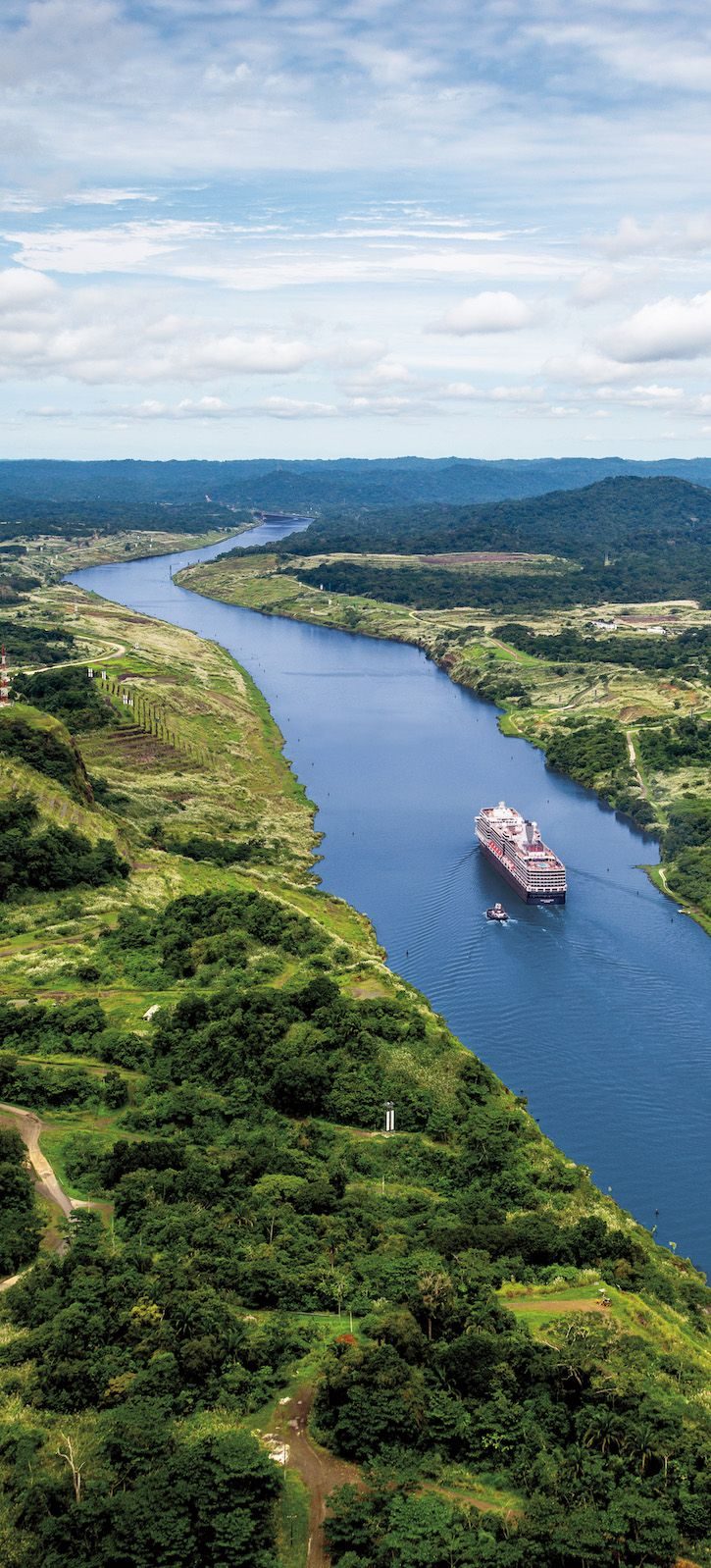 Cruise through history on the Panama Canal.