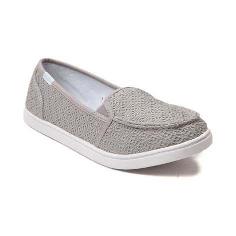 Shop for Womens Roxy Lido Crochet Slip On Casual Shoe in Gray at Journeys  Shoes.