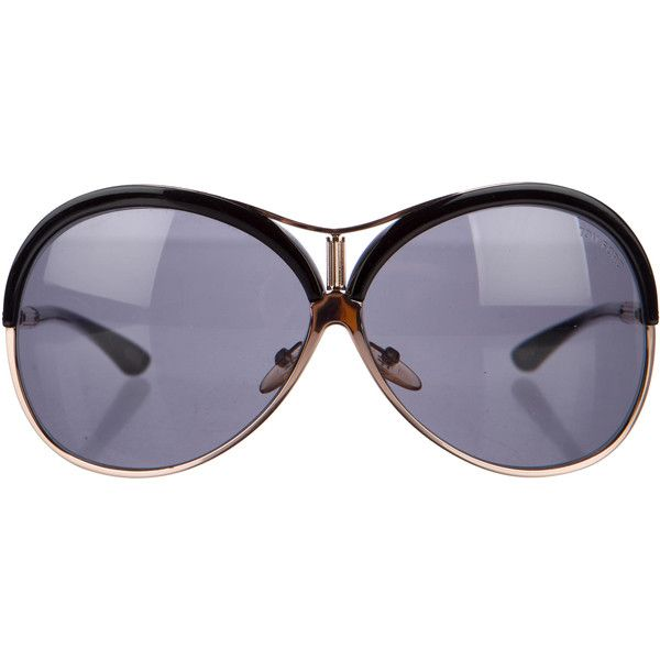 Pre-owned Tom Ford Valesca Oversize Sunglasses (2 475 ZAR) ❤ liked on Polyvore featuring accessories, eyewear, sunglasses, black, logo sunglasses, tom ford glasses, tom ford eyewear, tom ford sunnies and tom ford sunglasses