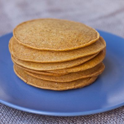 High Protein Pumpkin Pancakes.  I used to make a protein pancake w/ cottage cheese & oatmeal and liked it, so I know I'd like these.  Freeze some & pop them in toaster for something quick & different for breakfast.