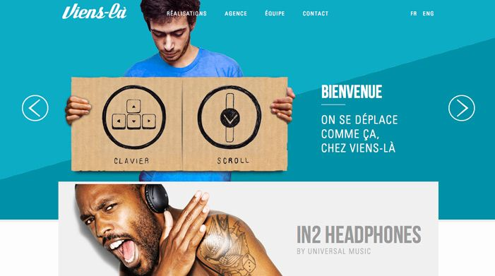 Viens-la agency | Awwwards | Site of the day