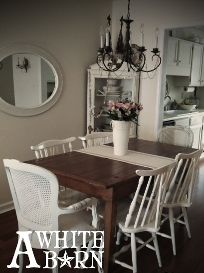 New Dining Decor Corner Cabinet Chairs Ive Used Annie Sloan Chalk Paint In Old White To Refinish The French