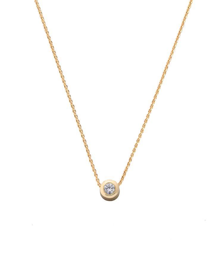Joy de la Luz initial collier 14K gold | with 0.05ct diamond