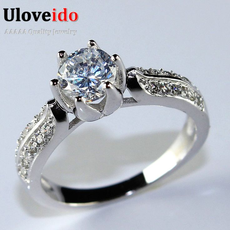 Find More Rings Information about 50% off The Ring Wedding Silver Plated Wedding Ring Band Crystal Simulated Diamond Rings for Women Promotion Wholesale Y027,High Quality ring scope,China rings for men and women Suppliers, Cheap ring gun for sale from ULOVE Fashion Jewelry on Aliexpress.com