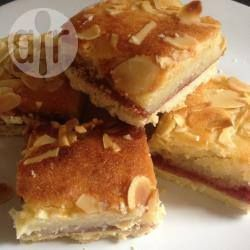 Bakewell slice - Looks like the one Jacqueline makes.  Must try it.