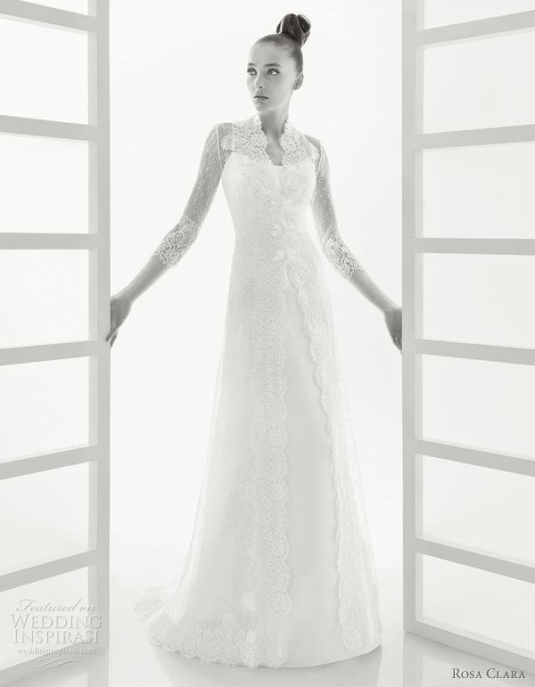 Rosa Clara 2011 wedding dresses --  organza bridal gown worn with lace overcoat reminiscent of a modern Kebaya style traditional dress