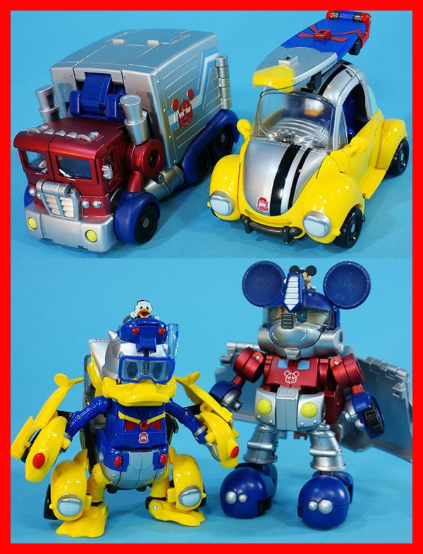 the special transformers disney mickey mouse and donald